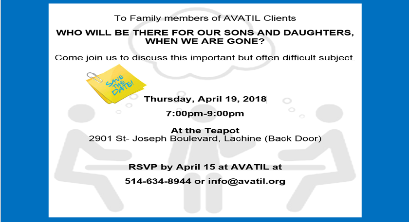 Invitation to the AVATIL Family Meeting on April 19, 2018